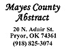 Mayes County Abstract
