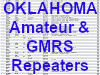 Oklahoma Amateur and GMRS radio repeaters