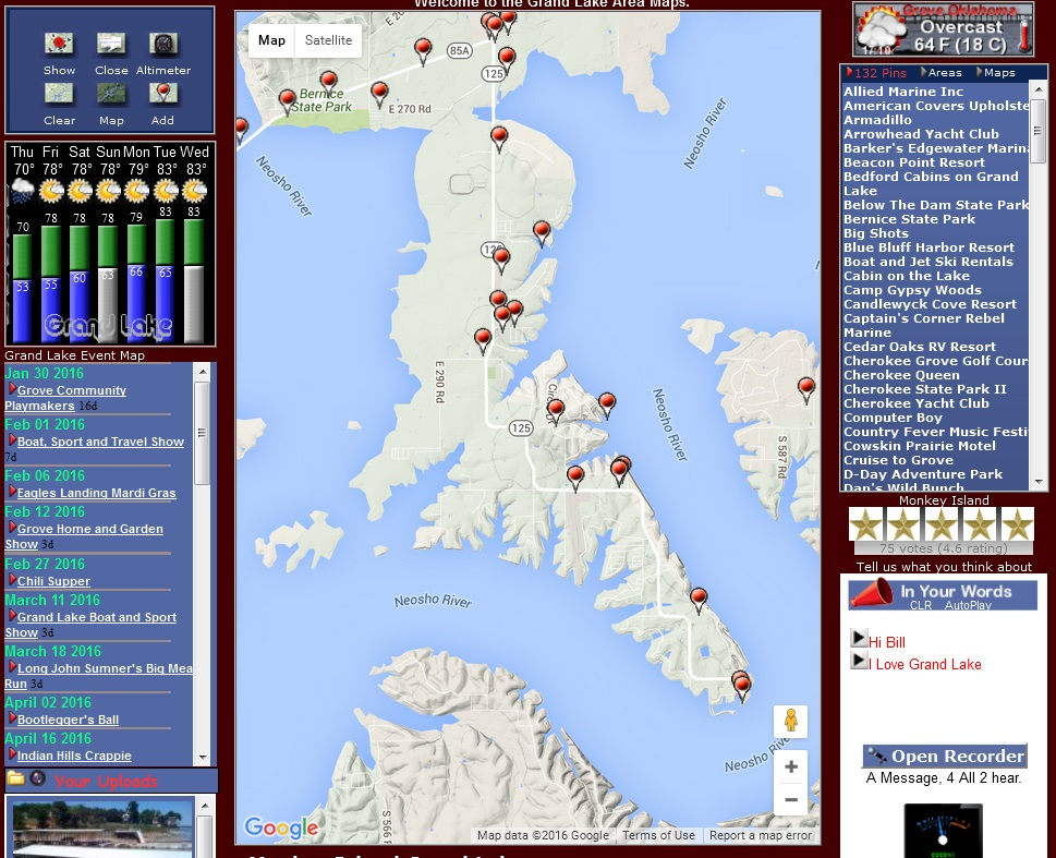 Jay Oklahoma Map.Monkey Island Map